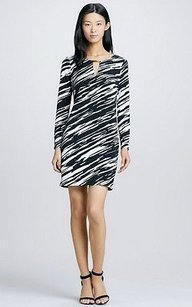 Trina Turk short dress black/white Black White Print on Tradesy