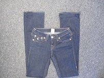 True Religion Blue Section High Rise Style Wak564n57 25 S486 Boot Cut Jeans