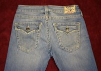 True Religion Distressed Boot Cut Jeans