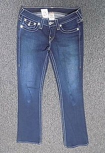 True Religion Blue Stitched Boot Cut Jeans