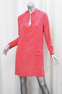 Tucker short dress Coral Womens Silk on Tradesy