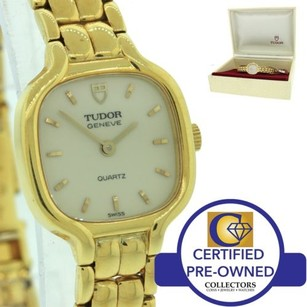 Tudor Vintage Ladies Tudor 155428 Solid 18k Gold Quartz 19mm Dress Watch W Box