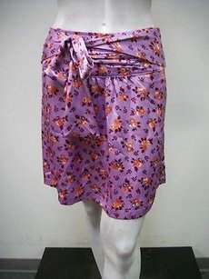 Tulle Coral Floral Skirt Purple