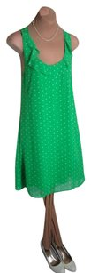 Tulle short dress GREEN WITH POLKA DOTS Sweeeeeet!!! Super Cute Spring Summer Lined Priced To Sell on Tradesy