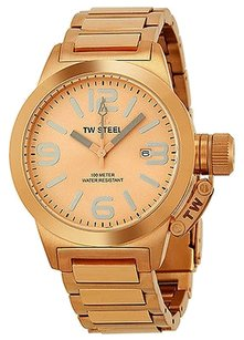TW Steel TW Steel Canteen 40mm Rose Dial Rose Gold-plated Unisex Watch TW303