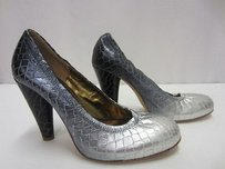 Twelfth St. by Cynthia Vincent Silvergrey Metallic Ombre Snakeskin 50094pk Grey/Silver Pumps
