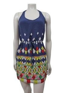 Twelfth St. by Cynthia Vincent short dress Navy Multi-Color Street Phuket Racer Back Blue P on Tradesy