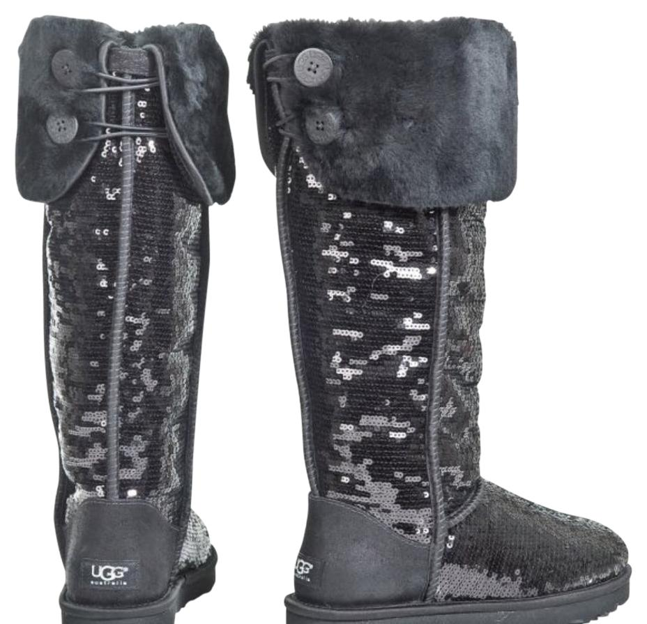 black uggs with sequins
