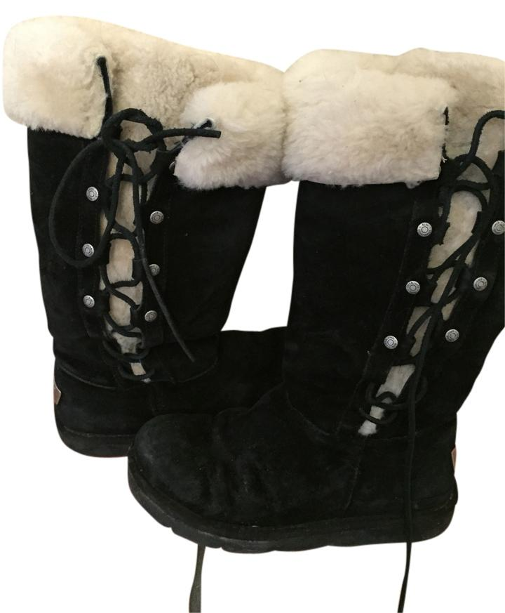 UGG Australia black with silver shimmers Boots ...