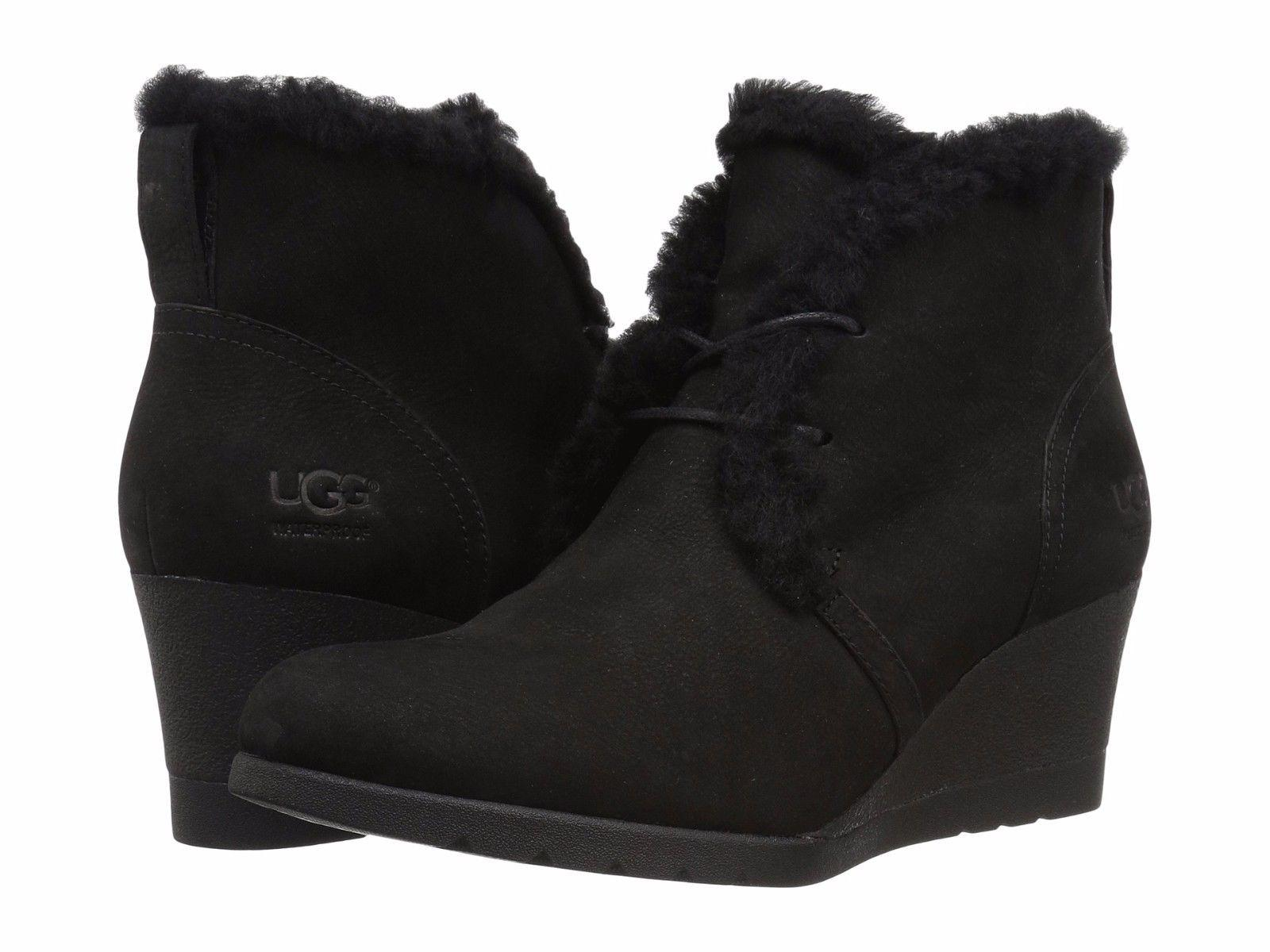 UGG Australia For Her 1017421 Size 7 Black Boots ...