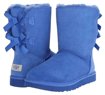 blue ugg type boots