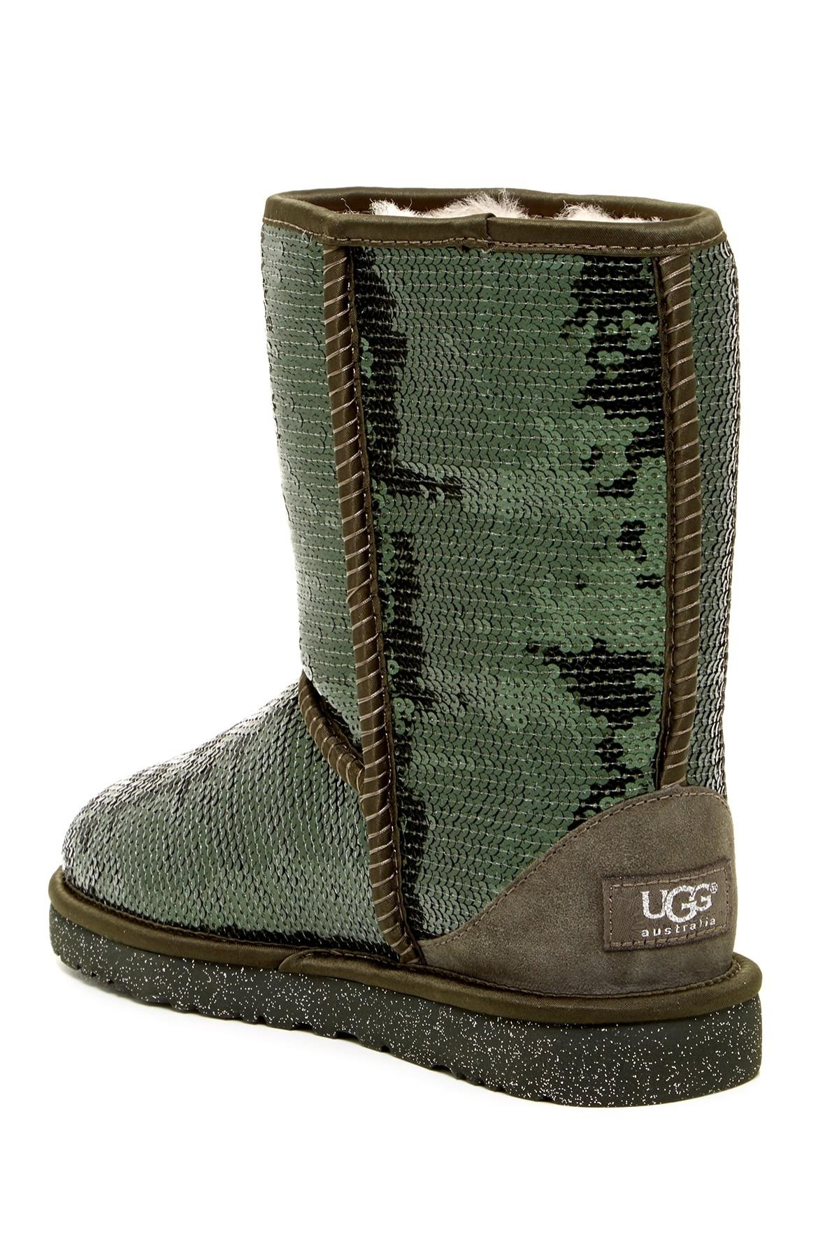 UGG Australia Forest Green Sequin Classic Short Sparkle Boots/Booties