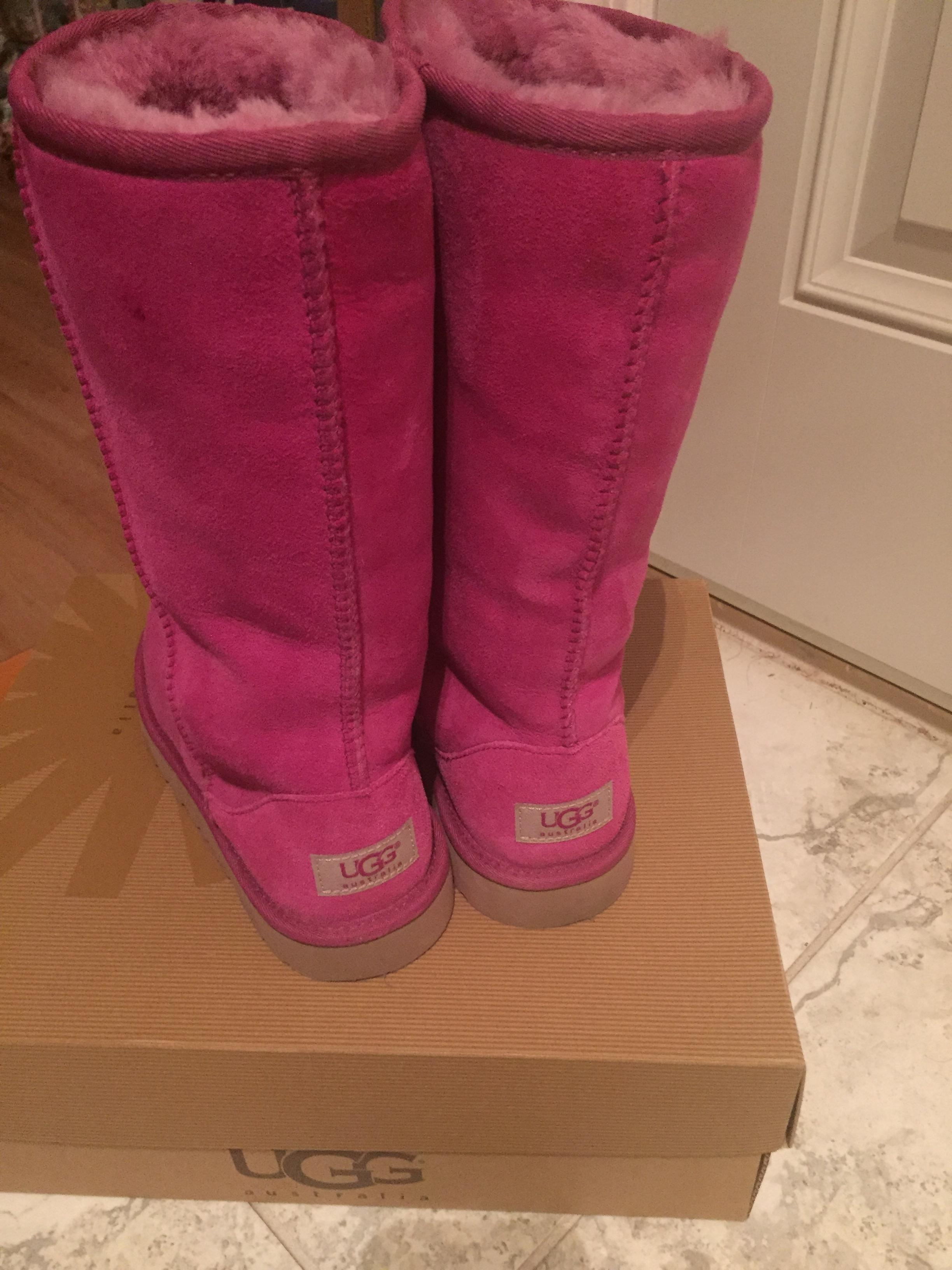 UGG Australia Fuschia Classic Tall Big Kids Fits Women Boots/Booties Size US 4 Regular (M, B) - Tradesy
