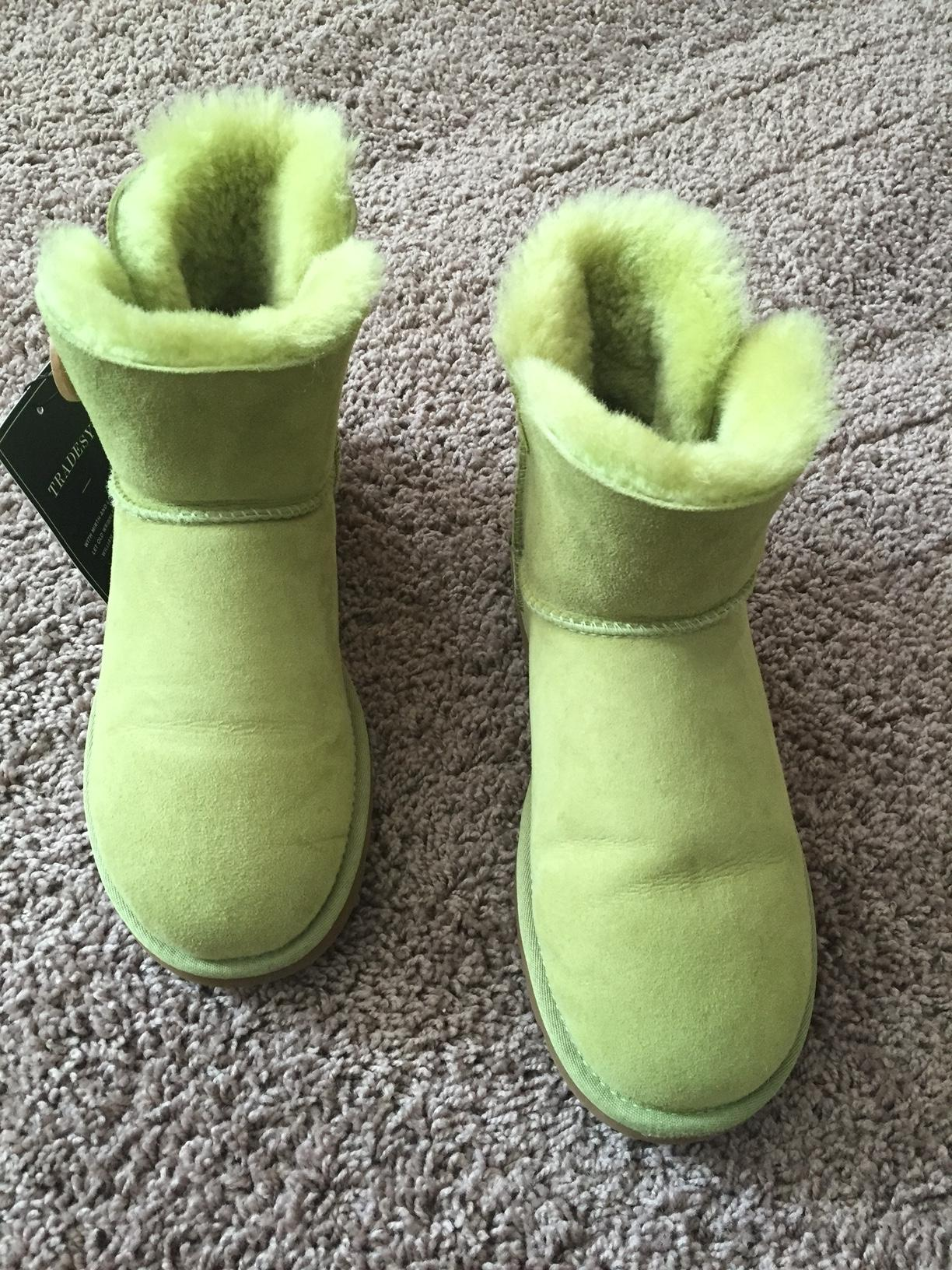 UGG Australia Casual Suede Lime green Boots ...