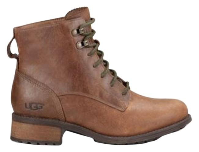 UGG Australia Cold Holiday Rain Luxury Nice Warm Soft Leather Laces Fashion Footwear  Lodge Boots ...