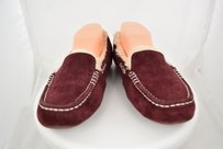 UGG Australia Ugg Womens Solid Moccasin Suede Loafers Casual Wine Flats
