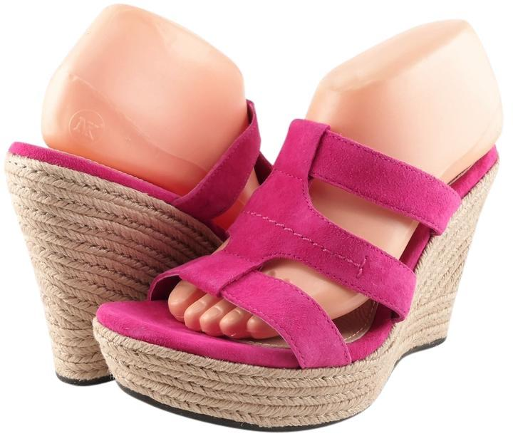 UGG Australia Suede Wedge Eur 40.5 Raspberry Pink Sandals ...