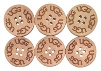 UGG Australia Six (6) UGG Replacement Buttons - Natural Sand (30mm in size) for Bailey Button, Triplet, Cardy, etc.