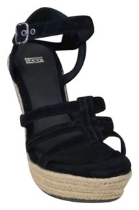 UGG Boots Black Wedges