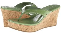UGG Australia Patent Leather Wedge Grass Green Wedges