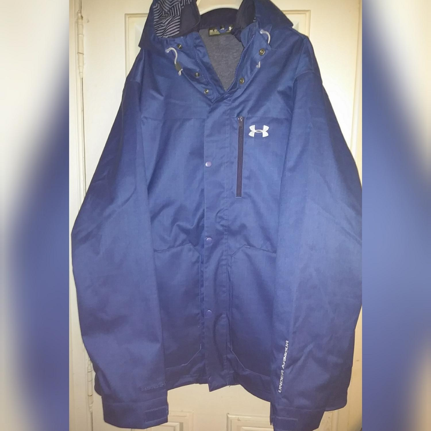 armour blue cold gear storm3 3in1 ski coat