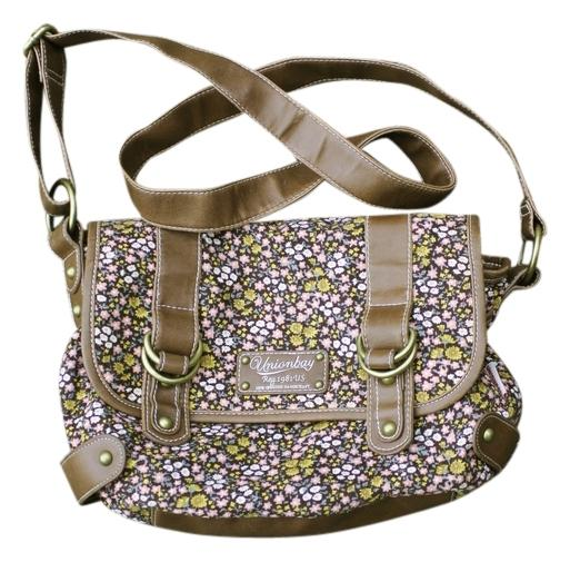 UNIONBAY Corduroy Brown Floral Pattern Cross Body Bag | Cross Body Bags On Sale At Tradesy