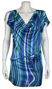 United Colors of Benetton Womens Striped Above Knee Sheath Dress