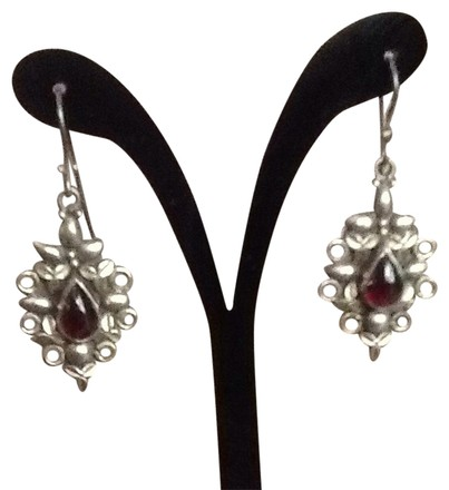 Other Sterling And Garnet Drop Earrings
