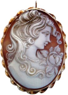 Unknown Estate Large Cameo Pin/Pendant set in 14K Gold