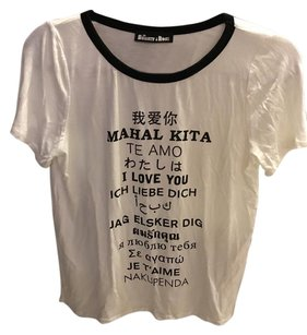 Urban Outfitters T Shirt Black White