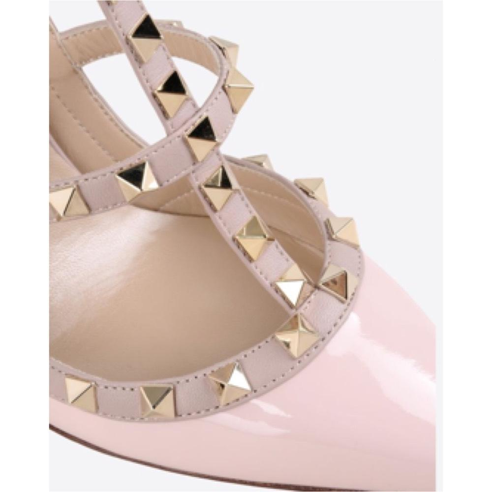 Valentino Rockstud Ankle Strap 40 5 Baby Pink Pumps on Tradesy