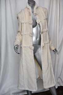 Valentino Cream Tweed Long Coat