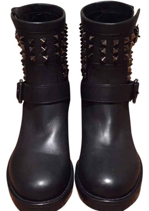 Valentino Blac Boots/Booties Size US 7.5 Regular (M, B)