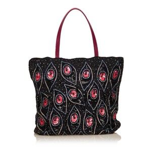 Valentino Black Fabric Others Tote