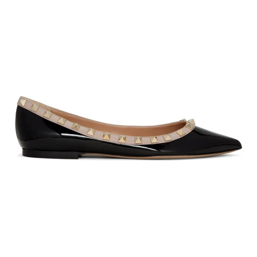 Valentino Black Flats Size US 8.5 Regular (M, B)