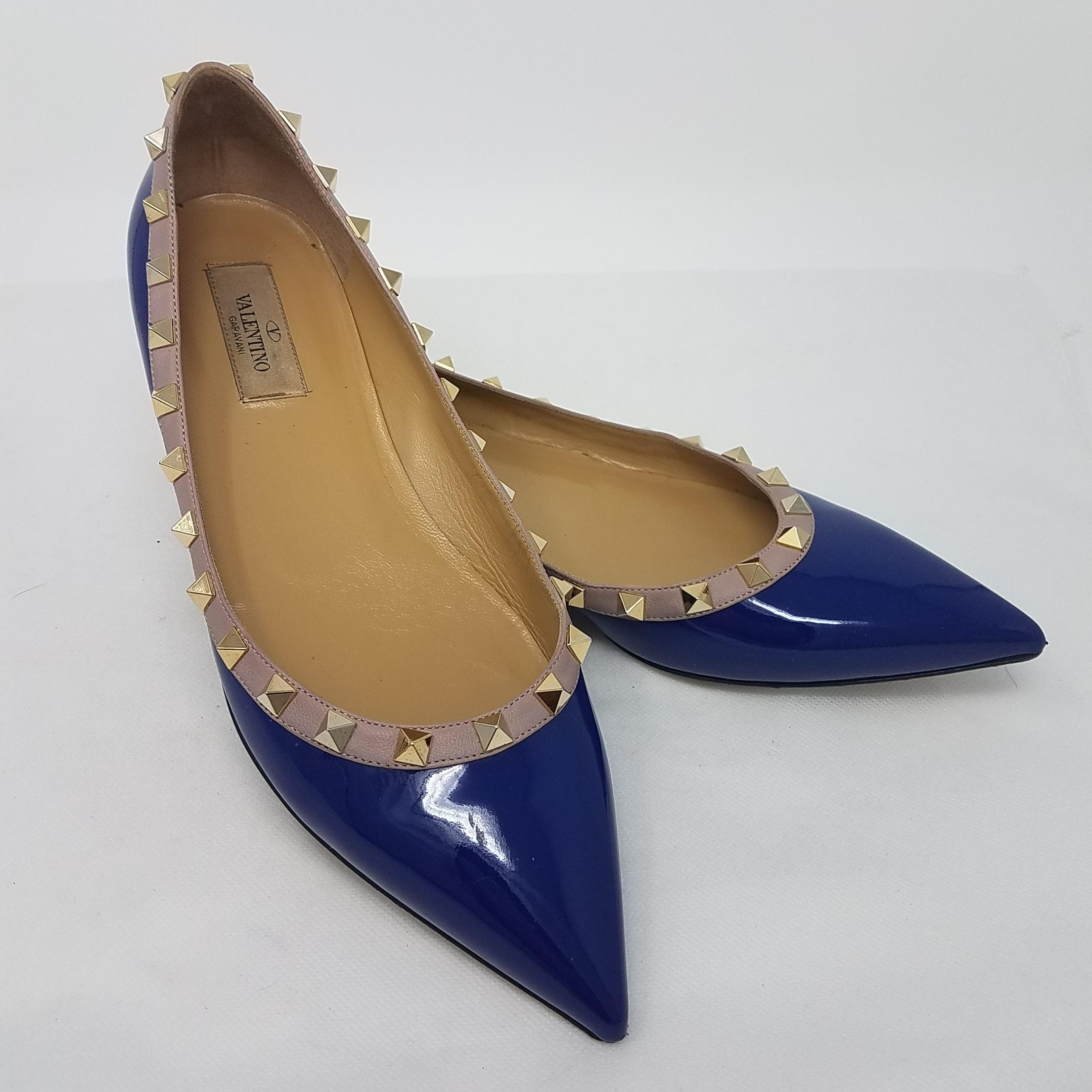 discount hot sale outlet for cheap Valentino Leather Pointed-Toe Ballet Flats discount visit new buy online authentic Gdcjq