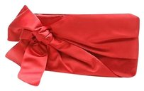 Valentino Satin Bow Red Clutch