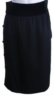 Valentino Designer Wool Skirt BLACK