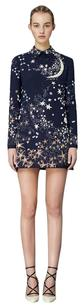 Valentino Multicolor Star Beaded A-line Wool Dress