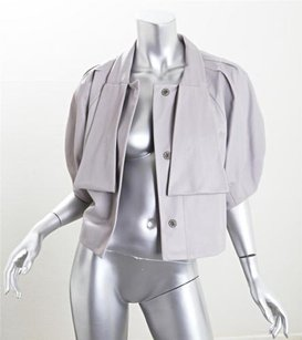 Valentino Roma Womens Lamb Gray Jacket