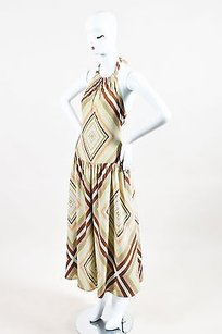 Multi-Color Maxi Dress by Valentino Brown Green Pink