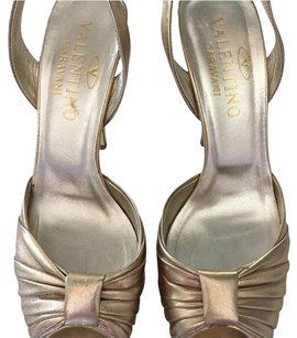 Valentino Metallic Platform gold Sandals