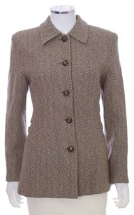 Valentino Miss V Wool Front Pea Coat