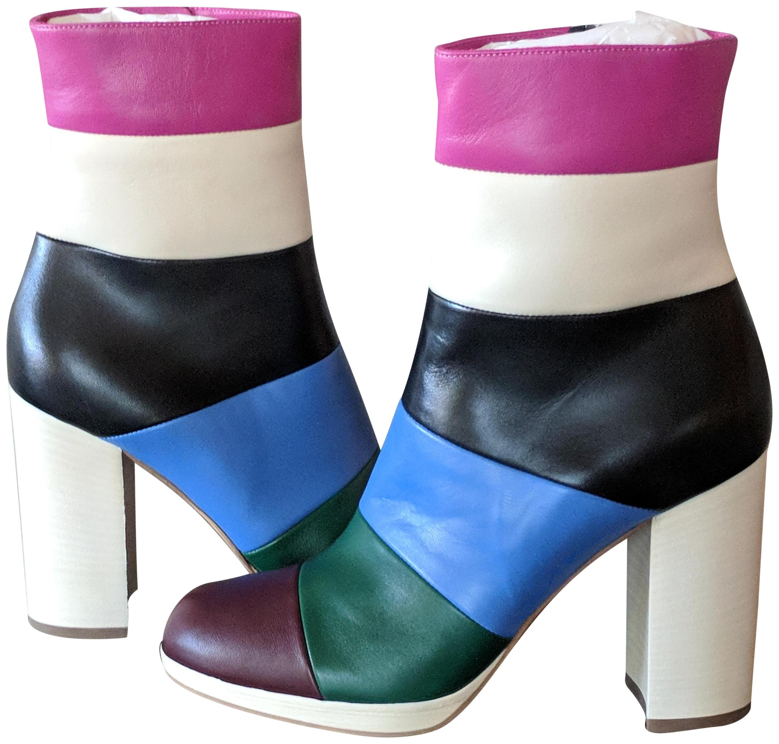 885a420dce31 Valentino Multicolor Striped Leather Ankle Boots Booties Size EU 36.5  (Approx. (Approx. Christian Louboutin ...