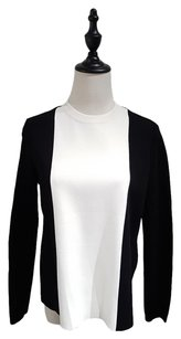 Valentino New Knit Evening Top Black White