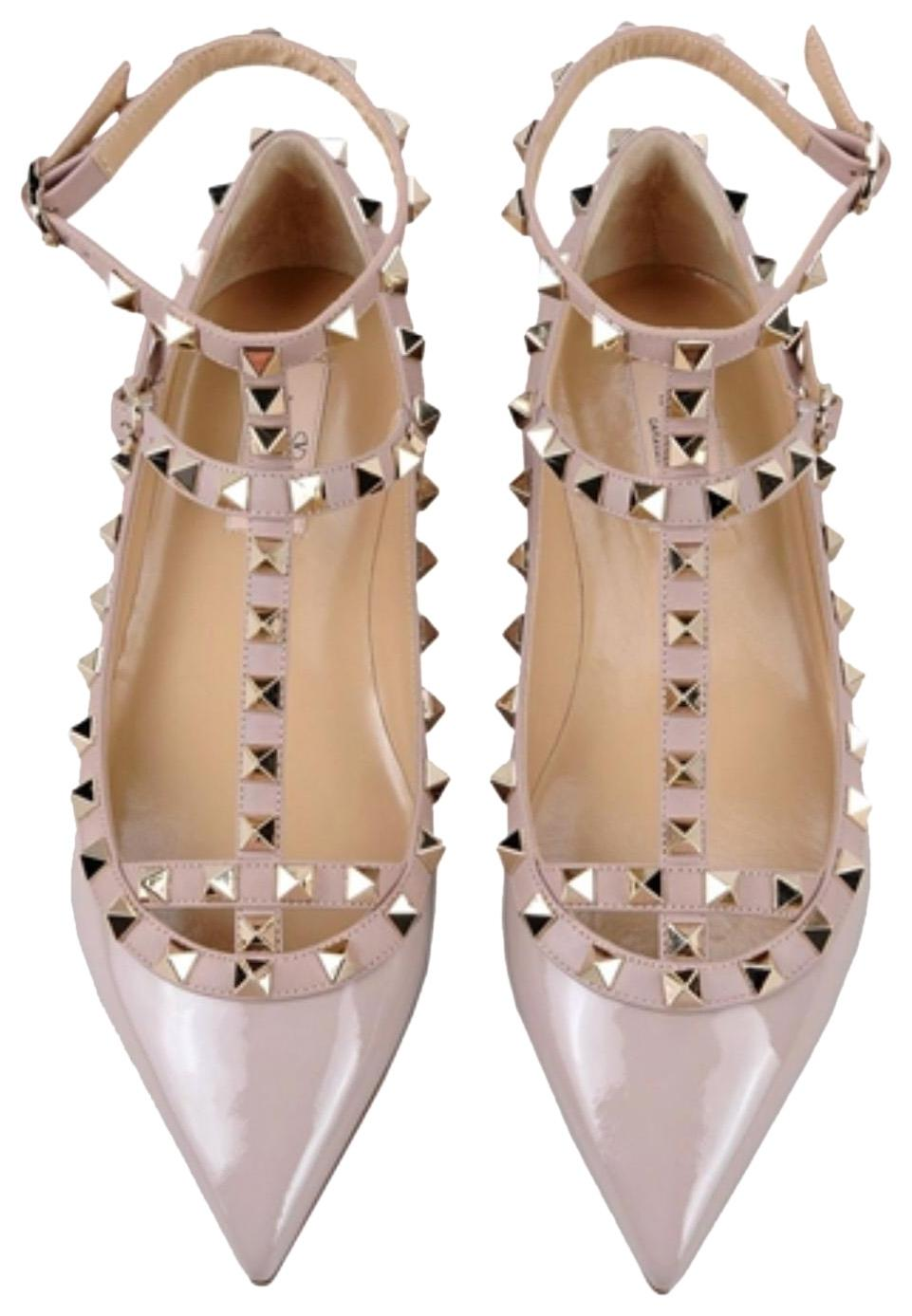 Valentino Patent Leather Shiny Flats Size US 6 Regular (M, B)