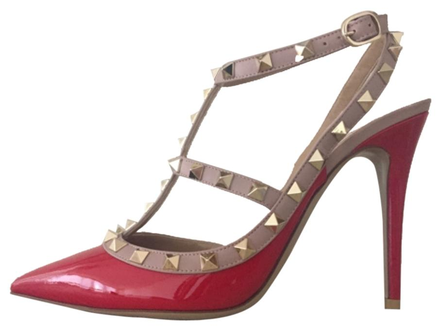 Valentino Red Rockstud Heels Eu39.5 Regular Pumps Size US 9.5 Regular Eu39.5 (M, B) 5c7312