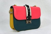Valentino Colorblock Flap Shoulder Bag