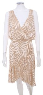 Valentino Silk Designer Wrap Burnout Sleeveless Dress