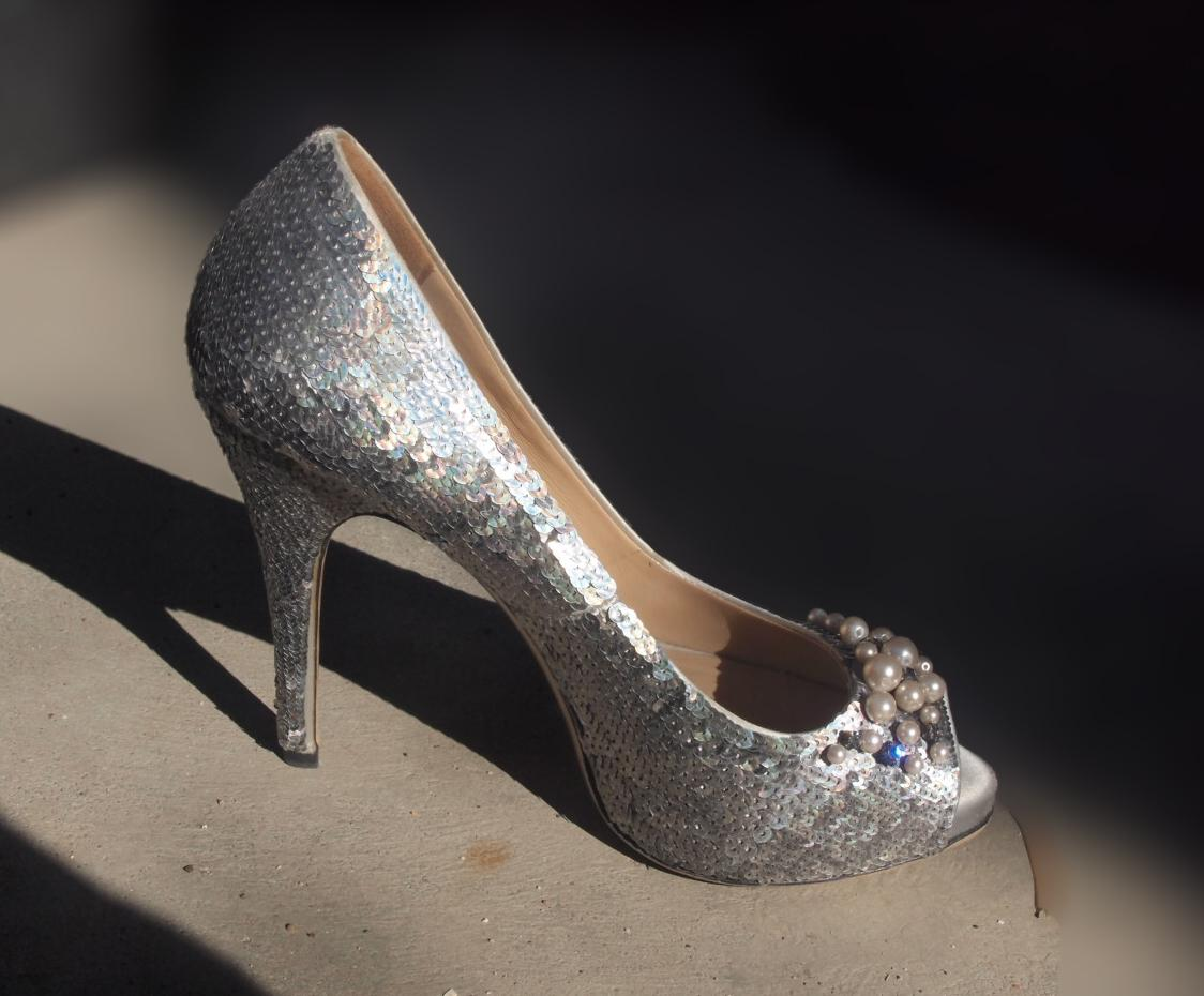 Valentino Sequin Peep-Toe Pumps for sale cheap real VVCtRU